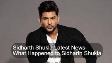 Sidharth Shukla Latest News